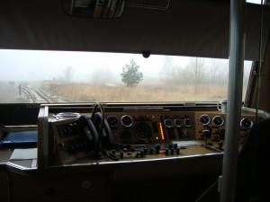 Blick vom Lokführerstand des Schienenbusses