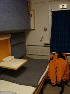 im Schlafwagen (= sovvagn)