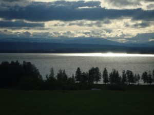 Abendsonne am Storsjön